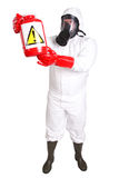 Man in a suit of chemical protection Royalty Free Stock Images