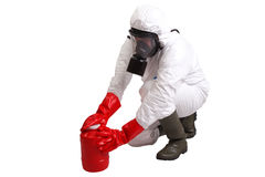 Man in a suit of chemical protection Stock Image
