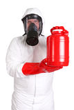 Man in a suit of chemical protection Royalty Free Stock Photos