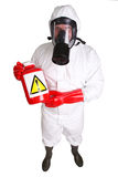 Man in a suit of chemical protection Royalty Free Stock Photography