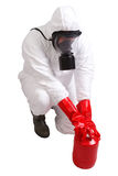 Man in a suit of chemical protection Stock Photo