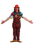 Man in the suit of clown Royalty Free Stock Photography