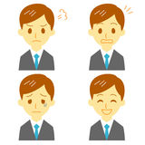 Man in suit, expressions. File Royalty Free Stock Photos