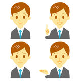 Man in suit, expressions. File Stock Photo