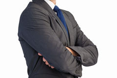 Man in a suit with folded arms Royalty Free Stock Photos