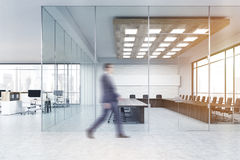 Man in suit going to conference room Royalty Free Stock Image