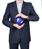 Man suit hands earth Stock Images