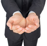 Man suit hands give Stock Photography