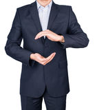 Man suit hands Royalty Free Stock Photo