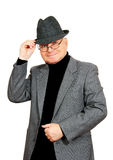 Man in suit and hat. Royalty Free Stock Image