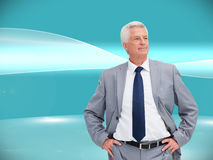 Man in a suit with his hands on his hips Stock Photography