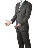 Man in suit holding his hands before him Royalty Free Stock Image
