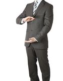 Man in suit holding his hands before him Stock Photo
