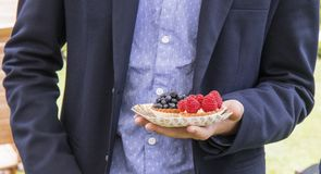 Street Food Shopping - garden party Royalty Free Stock Images