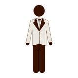 Man suit icon imge Stock Photo