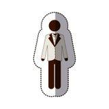 Man suit icon imge Stock Photography
