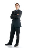 The man in a suit isolated on a white Royalty Free Stock Photography