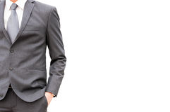 A man in suit isolated on white background Stock Photography