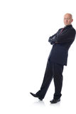 Man in suit leaning Royalty Free Stock Photos