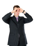 Man in suit looking far Royalty Free Stock Image