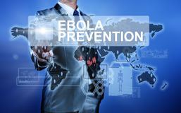 Man in suit making decision on Ebola Prevention Stock Image