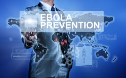 Man in suit making decision on Ebola Prevention Stock Images