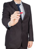 Man suit marker Royalty Free Stock Images