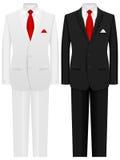 Man suit. Men formal suit on a white background Stock Photos
