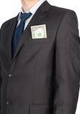 Man suit money Stock Image