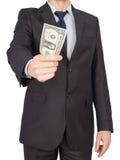 Man suit money Royalty Free Stock Image