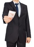 Man suit money Royalty Free Stock Images