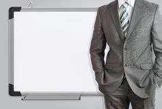 Man in suit and office board Stock Photography