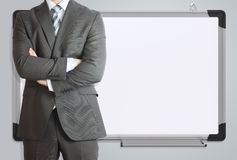 Man in suit and office board Royalty Free Stock Photo