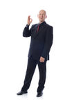 Man in suit ok sign. Man is suit giving the ok sign Royalty Free Stock Images