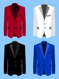 Man suit set on blue background. Business. Flat illustration. Man suit set on blue background. Business. Flat design,  illustration Royalty Free Stock Photos
