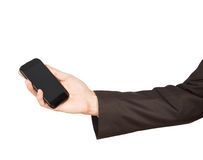 Man suit smartphone Royalty Free Stock Photos