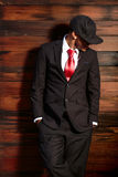 Man in suit smiling Stock Images