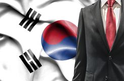 Man in suit from South Korea stock photography