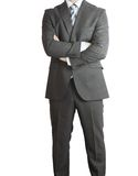 Man in suit standing with the cross arms Royalty Free Stock Images