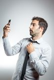 Man in suit taking a selfie Stock Photos