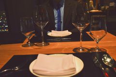 Business dinner for two royalty free stock images