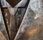 Man suit and tie metal art Royalty Free Stock Images