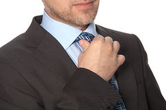 Man in a suit and tie Stock Photo