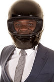 Man in suit wearing helmet smile Stock Photos