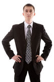Man in suit on white Royalty Free Stock Photo