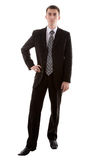 Man in suit on white Royalty Free Stock Images