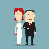 Man in suit and woman in evening dress Royalty Free Stock Photo