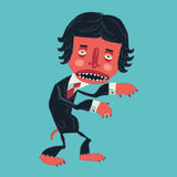 Man in a suit zombies on Halloween party. Royalty Free Stock Photography