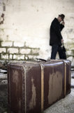 Man and suitcase Royalty Free Stock Images
