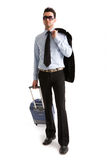 Man with suitcase Royalty Free Stock Photography